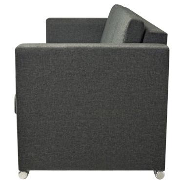 3-seater sofa in dark gray fabric