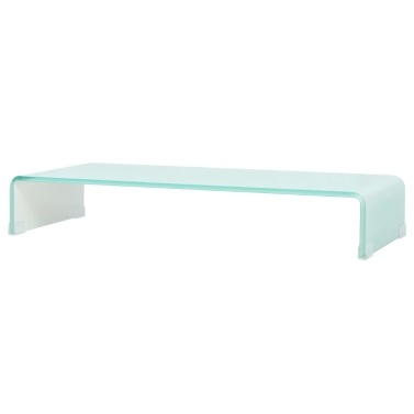 Mobile / Boost White Glass TV Stand 80x30x13 cm