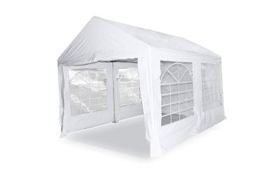 3x4m Outdoor Hochzeitsfeier Zelt Rohr 38mm Weiß