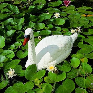 Ubbink White Swan Garden Pond Ornament Plastic