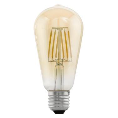 EGLO Vintage Style LED Light Bulb E27 ST64 Amber 11521