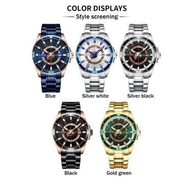 CURREN 8359 Armbanduhr für Herren Herren Quarzuhren mit Kalenderanzeige Datum Wasserdicht Leuchtzeiger Tragbares Zubehör mit Edelstahlarmband