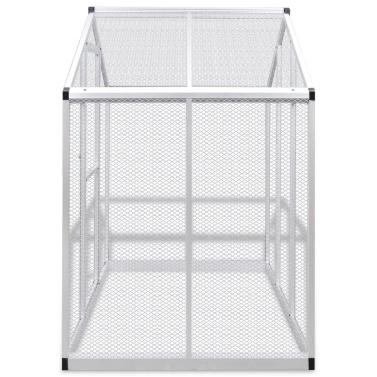 Außenvoliere Aluminium 188 x 122 x 194 cm