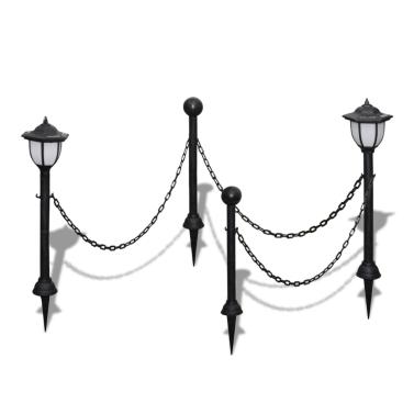September garden lamp solar LED lamps with chain 2 2 poles
