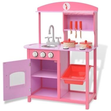Spielzeugküche 60 x 27 x 83 cm Holz Rose