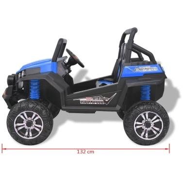 Elektroauto für Kinder 2 Plätze XXL Blau und Schwarz