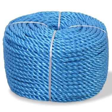 Polypropylene rope 8 mm 200 m Blue