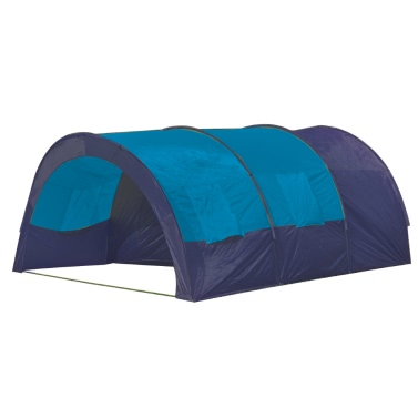 Polyester Camping Tent 6 Persons Blue-Dark Blue