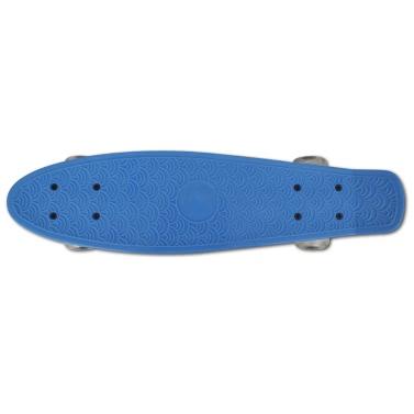 Skateboard Retro Blu con Ruote a LED