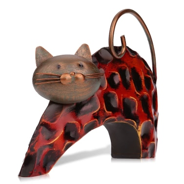 TOOARTS   Lazy cat Metal sculptrue
