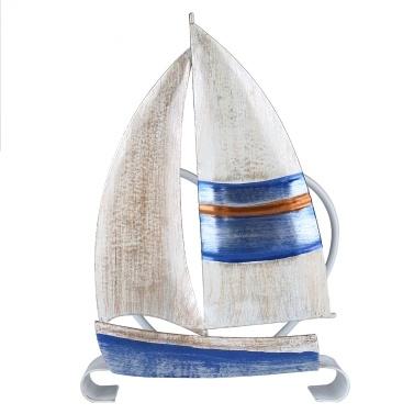Tooarts Segelboot Serviettenhalter Eisenserviettenhalter Creative Ornament Hotel Papieretui Küchenpapierhalter Tischdekoration und -veredelung