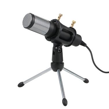 Professionelles Kondensatormikrofon USB Home Studio-Aufnahmemikrofon mit Mini-Mikrofonständer Zweilagiger Akustikfilter