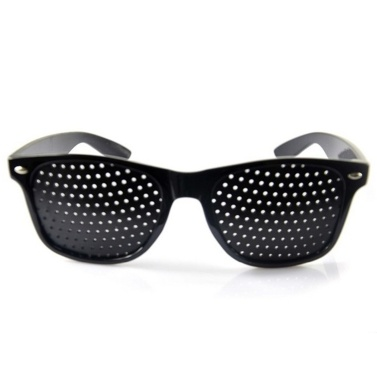 Kleine Löcher Lochbrille Anti-Müdigkeit Verbesserte Sehkraft Augenübung Korrekturbrille Schwarz