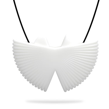 Tomfeel 3D-Druck Schmuck Fan elegante Modellierung Halskette Anhänger Zubehör