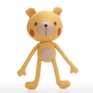 Tooarts | Yoga Bär Puppe Tierform Spielzeug Tröstliches und einfühlsames Objekt Kindliche Verzierung Kultivieren Phantasie Qualitätsbaumwollmaterial