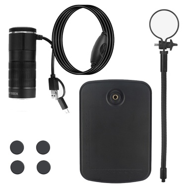 Three-in-one mobile phone microscope typeC Android computer digital microscope children microscope AN104 black