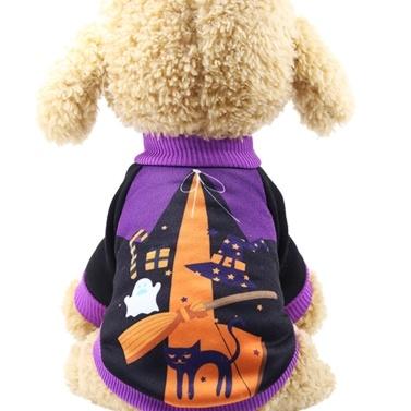 Roupa do cão de estimação do estilo do Dia das Bruxas