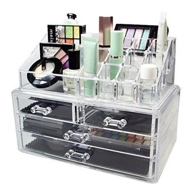 Transparents Acrylic Lipstick Storage Case Desktop Jewelry Storage Case With Drawer
