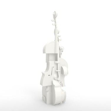 Violin Fantasia Tomfeel​​ 3D Printed Sculpture Home Decoration Instrument