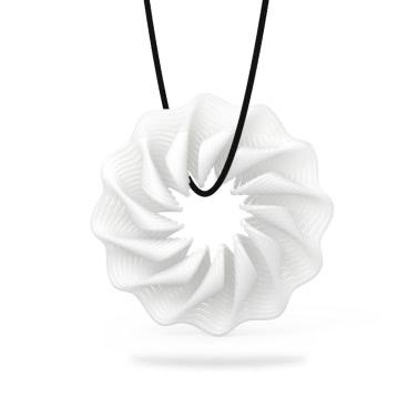 Tomfeel 3D-Druck Schmuck Rhythm elegante Modellierung Halskette Anhänger Zubehör