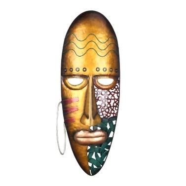 Tooarts afrikanische Gesichtsmaske Kunst Wandbehang Eisenmaske Wanddekoration
