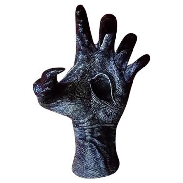 Рука ведьмы жуткая рука настенная вешалка Декор коготь демона демон глаз ведьмы рука настенная подвеска из смолы ювелирные изделия