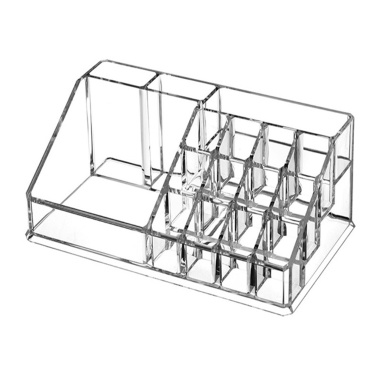 Transparents Acrylic Lipstick Storage Case 12 Grids Skin Care Product Storage Case 1029