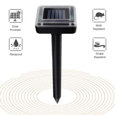 Solar Mole Repellent Ultraschall Schädlingsbekämpfung Nagetierabwehrmittel Solarbetriebener Gopher Repeller
