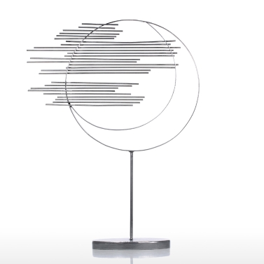 Two Circles Iron Sculpture Abstract Sculpture Modern Sculpture Iron Circle Home Decor Modern and Concise Artwork