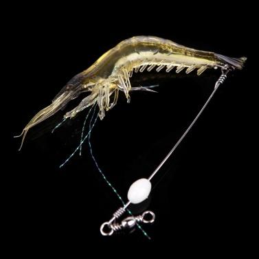 1 STÜCK 180mm PVC Künstliche Fischköder Bionic Weichen Köder Angelgerät Garnele Geformte Fischköder Simulation Garnelen Lockt mit Haken Nachtleuchtende Leuchtende Glow Perle Farbe Zufällig