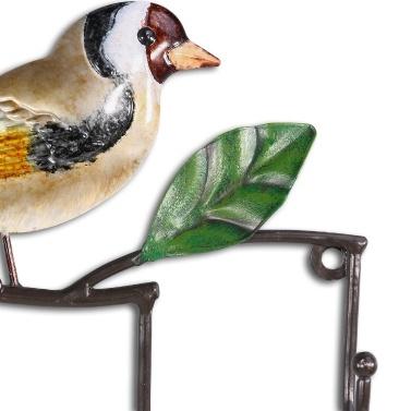 Vogel Wand Haken dekorative Eisen Wandhalterung Wand montiert Mantel Schlüssel Hut Haken Vintage Design Kleiderbügel mit 4 Haken