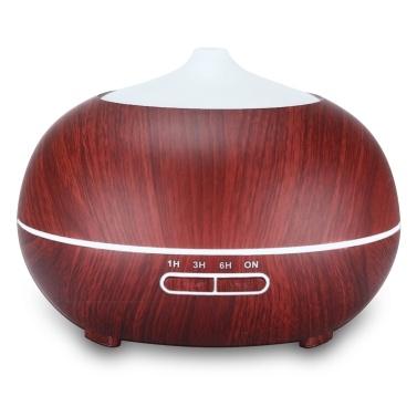 Intelligent Remote Control 400ML Wood Grain Essential Oil Diffuser