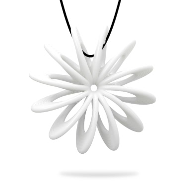 Tomfeel 3D Printed Jewelry Blooming Flower Elegant Modeling Pendant Jewelry Necklace Accessories