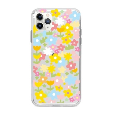 Transparent Soft TPU Phone Case with Flower Design Full-Body Protective Anti-Slip Cell Phone Cover Girls and Women Floral Back Cover Bumper Shockproof Case Cover for-iphone