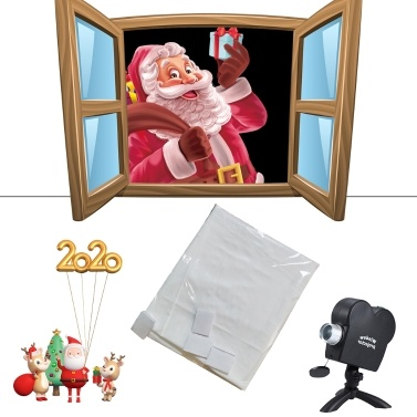 1.8*1.2M Projector Screen Foldable Portable Display Cloth for Christmas Halloween Movie
