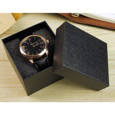 YAZOLE Watch Box Organizer Watch Boxes Packaging Gift Box Dark Grain Square Box for Watch Bracelet Jewelry