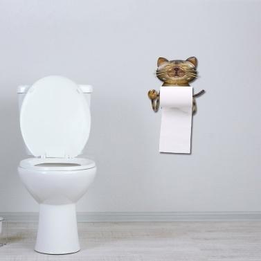 Cat Paper Towel Holder Vintage Cast Iron Dog Toilet Paper Holder Stand Towel Holder Standing for Bathroom