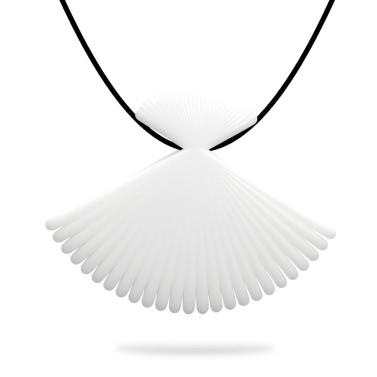 Tomfeel 3D Printed Jewelry Fan Elegant Modeling Pendant Jewelry Necklace Accessories