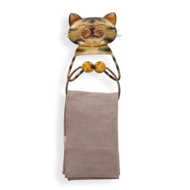 Cat Towel Ring Holder Heavy Duty Iron Bathroom Hanger Towel Holder Lovely Animal Bathroom Accessories