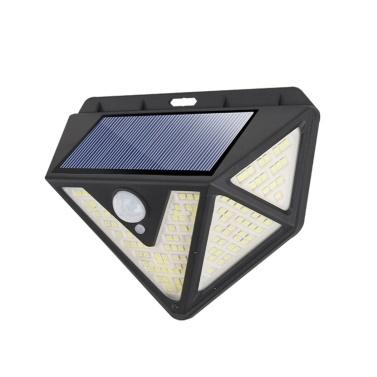 166 LED Solar Light Wall Light PIR Motion Sensor IP65 Waterproof 5 Sides Outdoor Lighting Garden Yard Path Lamp Decoration Porch Lights