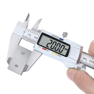 Pinça de aço inoxidável vernier paquímetro digital alta precisão 0-150mm