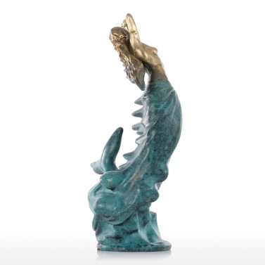 Tomfeel Mermaid Bronze  Modern Design Ocean Goddess Female Statue