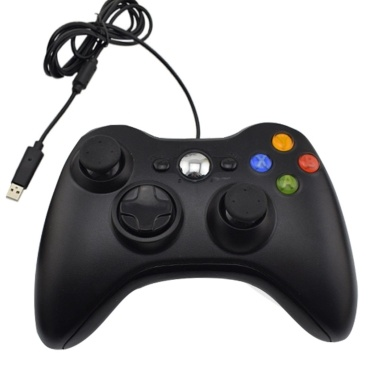 DATA FROG Xbox360 Form PC Single mit verdrahtetem Gamecontroller USB-Kabel PC Gamepad Schwarz