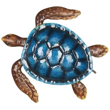 Blaue Schildkröte Wand Dekor Küste Ozean Meer Wand Kunst Eisen Tier Wand Dekor Startseite Schlafzimmer Dekoration