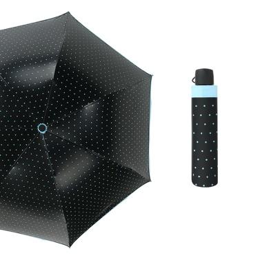 3 Falten Reiseschirm Welle Punkt Farbe Kleber Arch Teleskop Mode Anti-Ultraviolett Regen Schutz Regenschirm