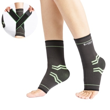 Ankle Brace with Compression Wraps Compression Foot Sleeve Compression Socks Relieves Achilles Tendonitis Joint Pain Eases Swelling for Arch Ankle Support Football Basketball Running for Sprained Foot Plantar Fasciitis
