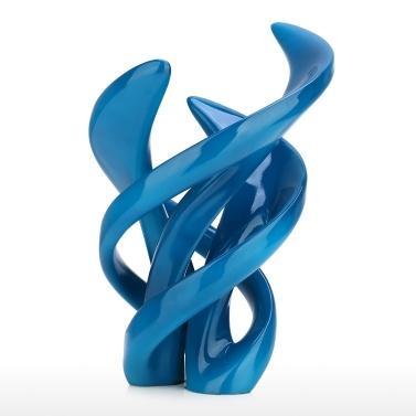 Das Leben des Tanzens Elegante Harz-Zusammenfassung macht gelockte Linien umweltfreundliche Harz-blaue Metallmalerei-Oberfläche in Handarbeit