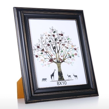 Black Wood Photo Framework for Photo Display Tabletop Decoration Rustic Photo Framework 5X7