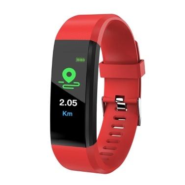 115Plus Intelligente Uhr Farbdisplay BT Sport Wasserdichte Uhr Schritte Zählen des Blutdrucks Herzfrequenzmessung Fitness Uhr