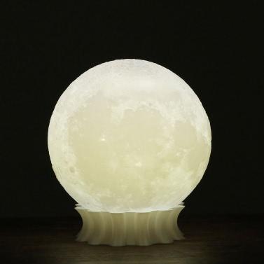 Tooarts 3D Printed Moon Lamp 3D-Druck-Lampe Moderne Skulptur Hauptdekoration Ornament Kunst Moderne Kunst Mond-Dekor-Beleuchtung Geschenk US-Stecker 100-240V 50 / 60Hz